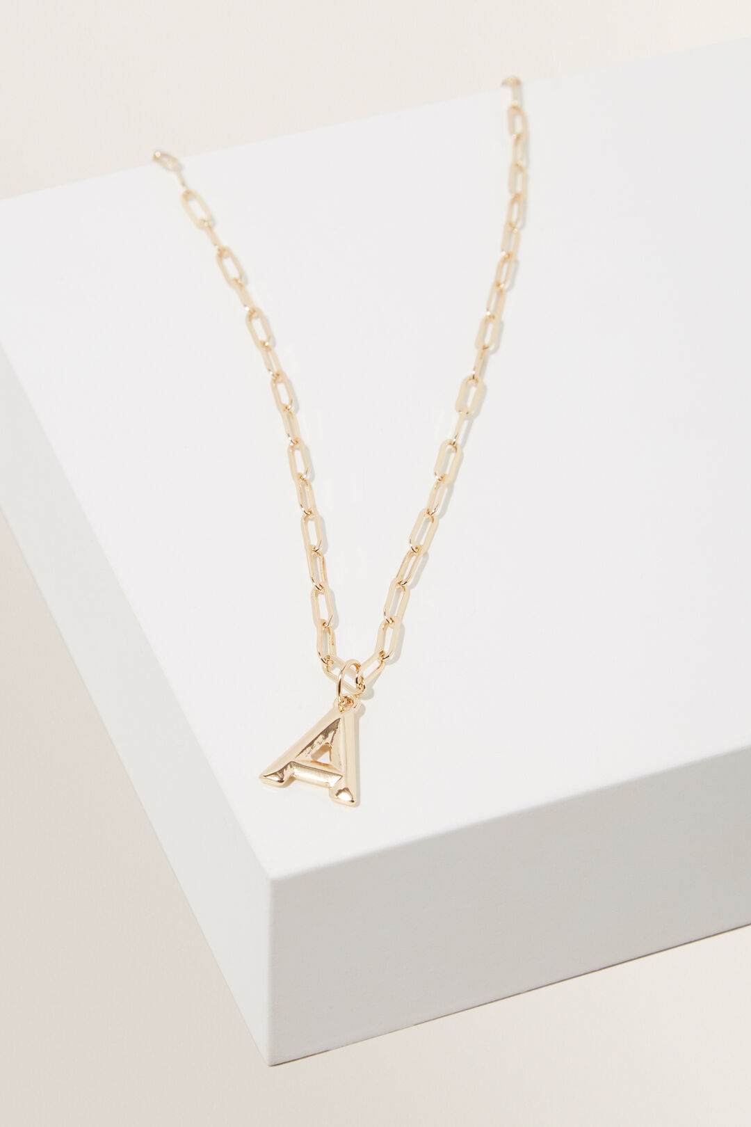 Initial  Chain  Necklace  A  hi-res