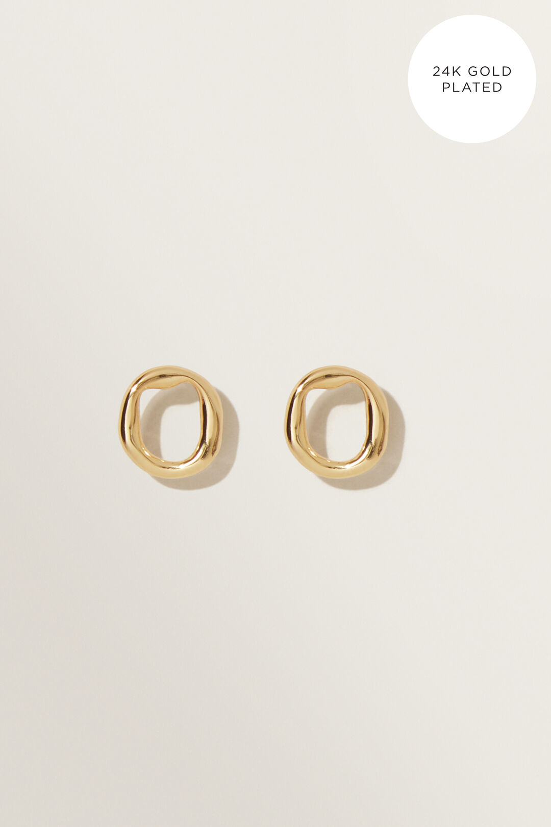 Fine Oval Studs  GOLD  hi-res