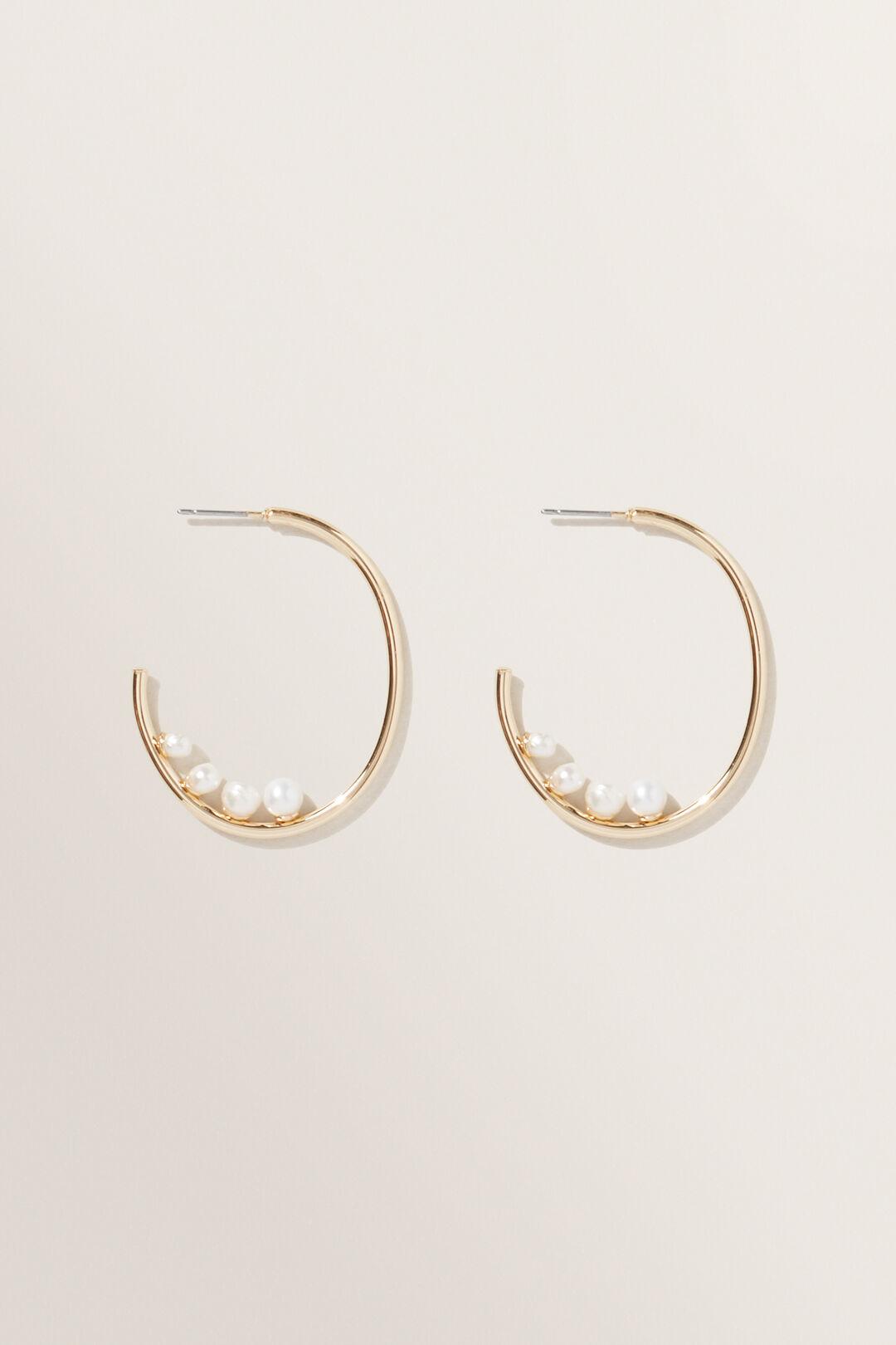 Multi  Pearl  Earrings  GOLD  hi-res