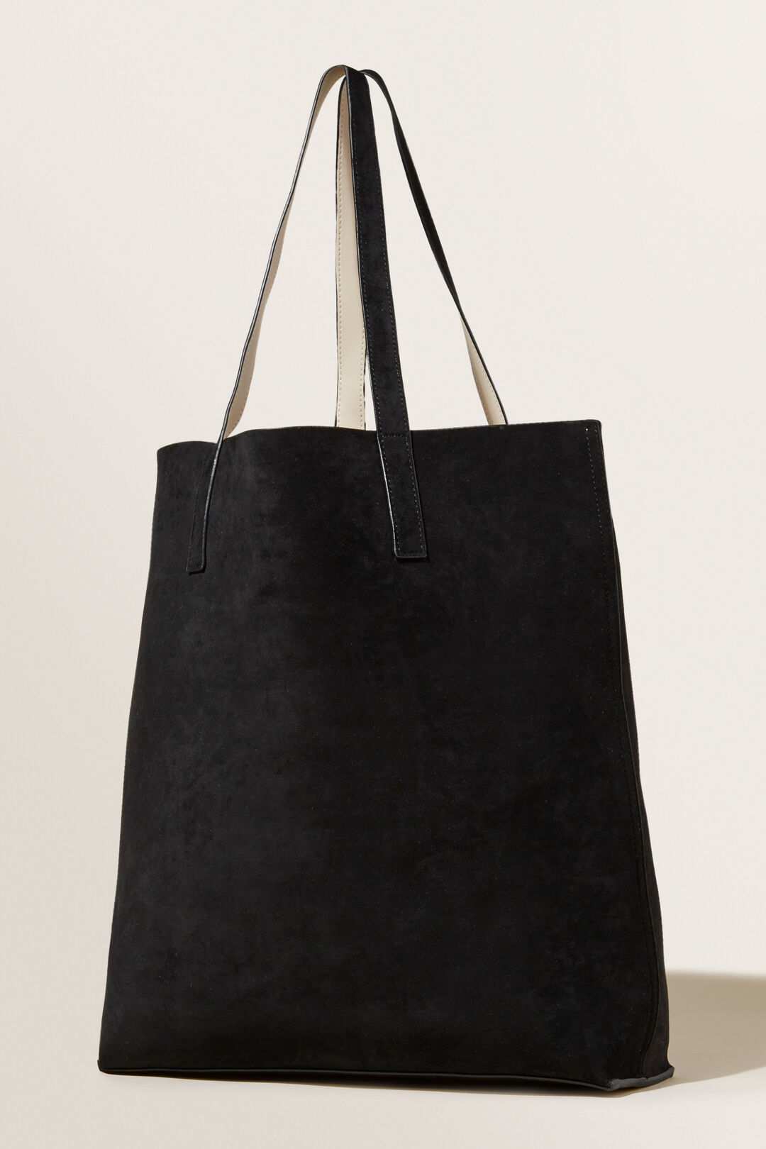 Reversible Tote  BLACK FRENCH BEIGE  hi-res