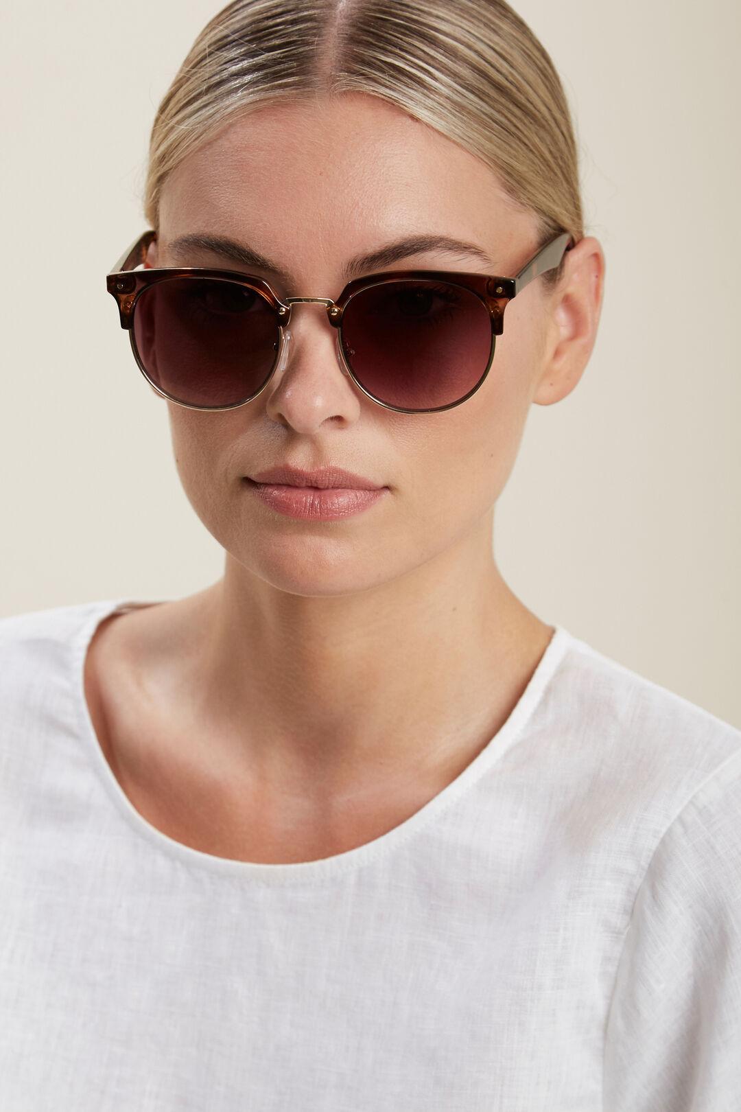Tiarne Topbrow Sunglasses  TORT  hi-res
