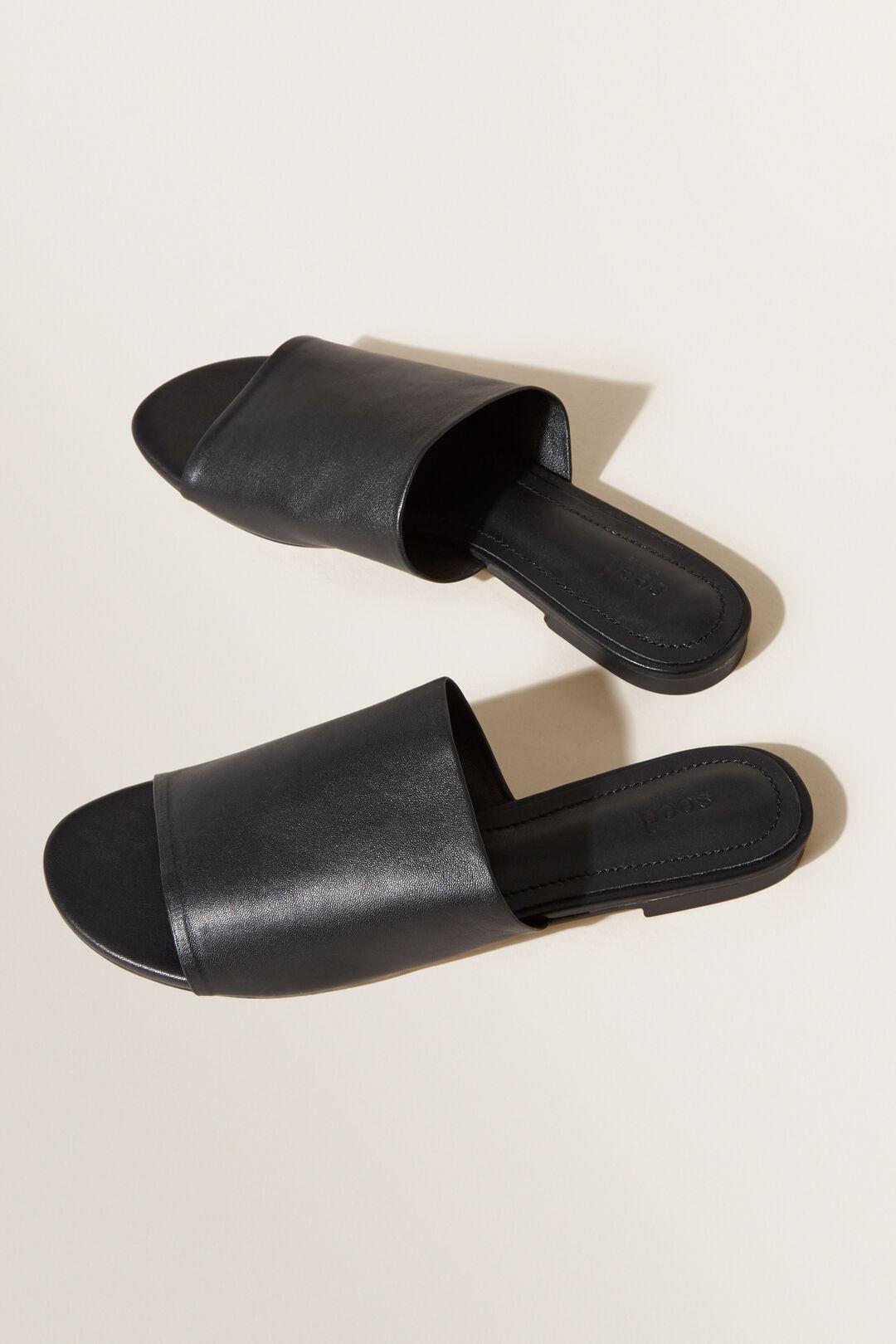 Allie Mule Slide  BLACK  hi-res