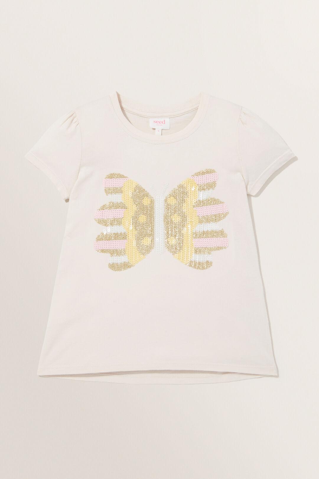 Butterfly Sequin Tee  VANILLA  hi-res