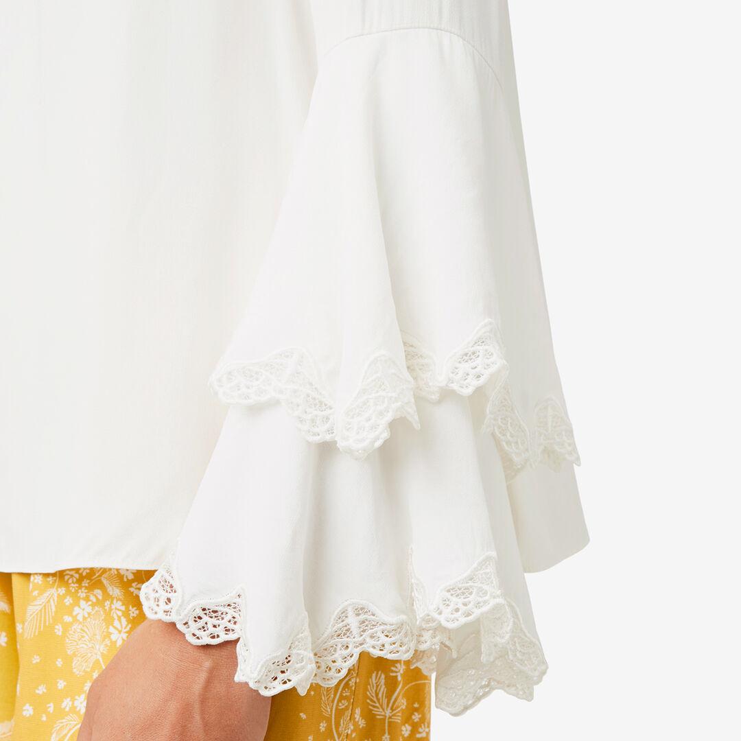 Lace Detail Blouse  CLOUD CREAM  hi-res