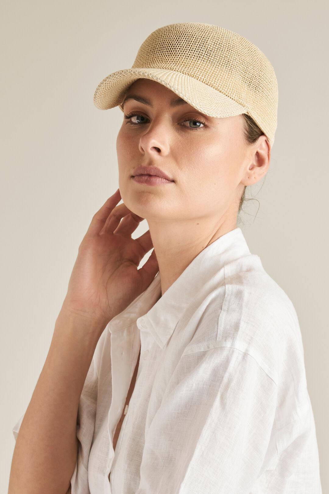 Woven Straw Cap  NATURAL  hi-res