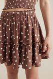 Linen Tiered Skirt  TAFFY  hi-res