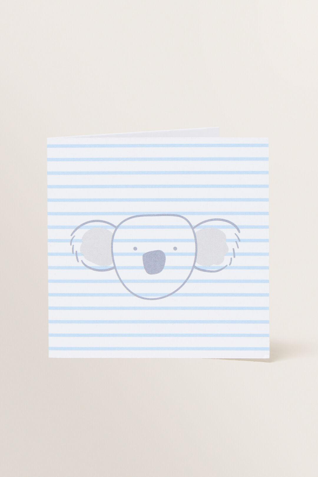 Small Blue Koala Card  MULTI  hi-res