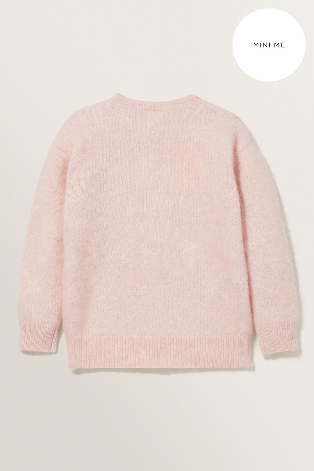 Mohair Blend Sweater  ASH PINK MARLE  hi-res