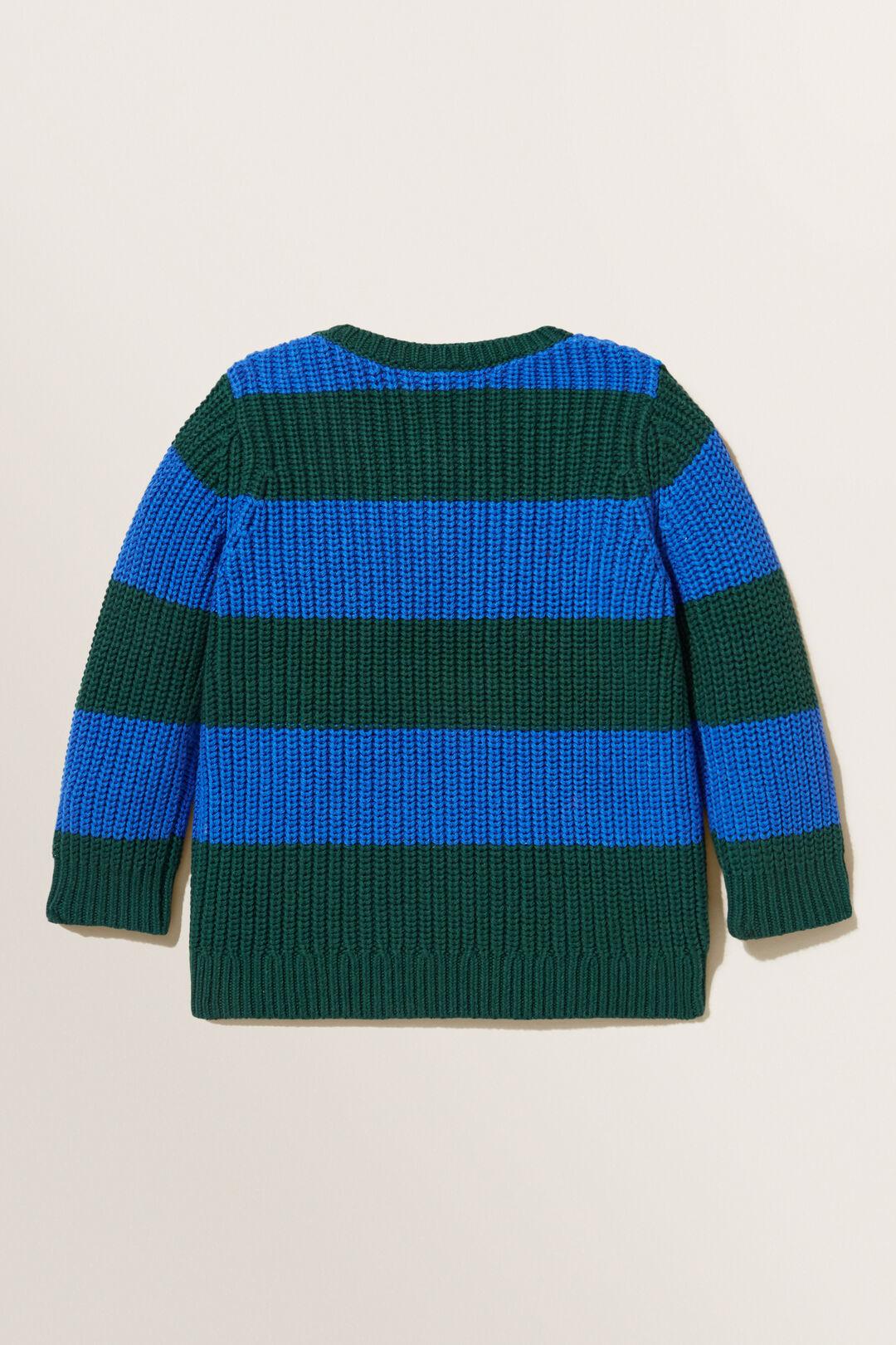 Chunky Stripe Sweater  BOTTLE GREEN  hi-res