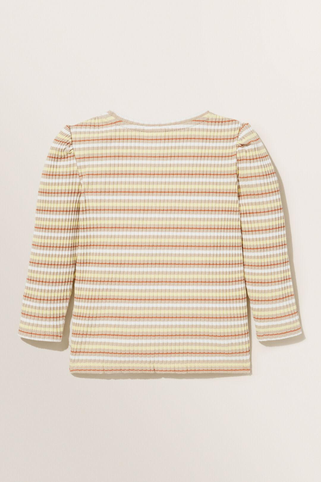 Striped Rib Long Sleeve Tee  MULTI  hi-res