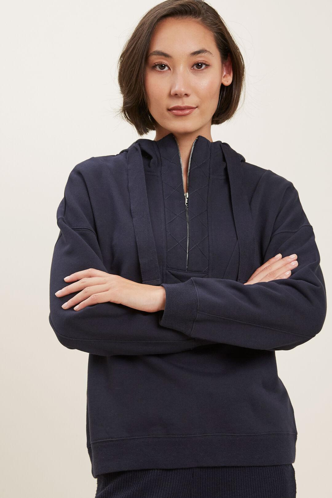 Hooded Panel Sweater  DEEP NAVY  hi-res
