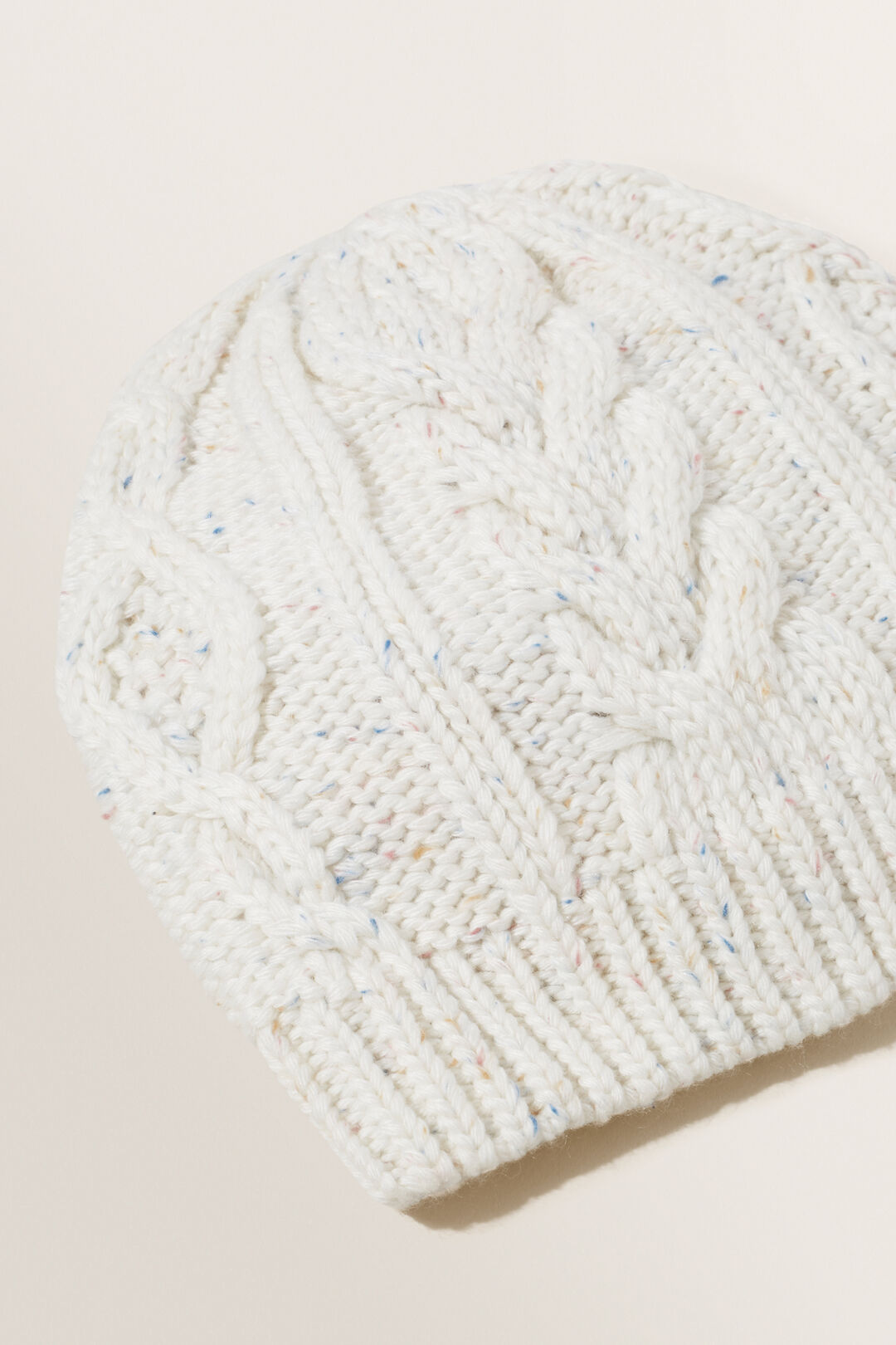 Cable Knit Beanie  FRENCH VANILLA FLECK  hi-res