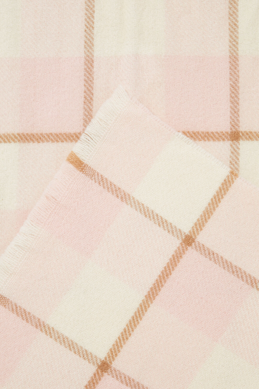Wool Check Scarf  ASH PINK MULTI  hi-res