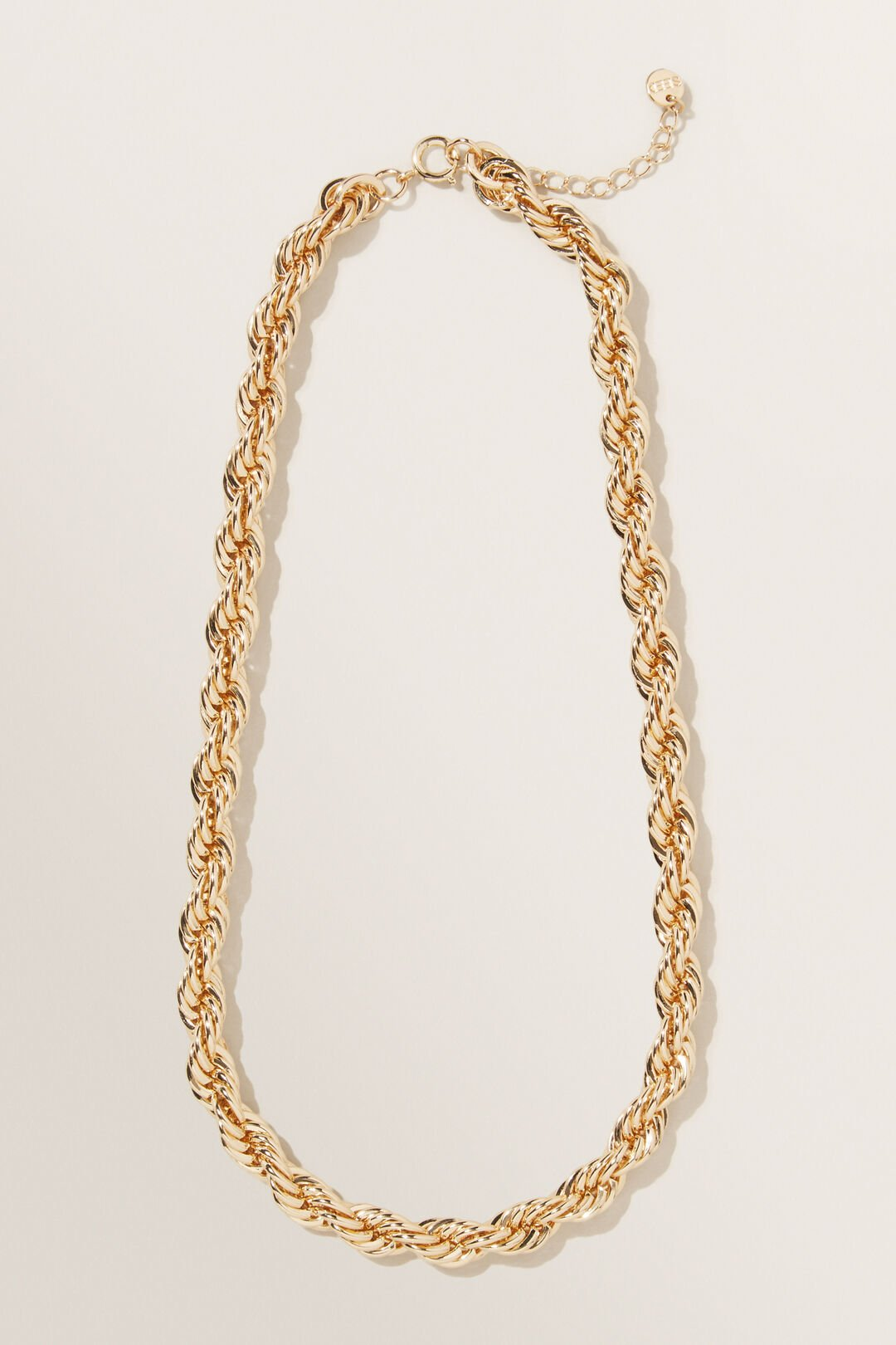 Chunky Rope Chain Necklace  GOLD  hi-res