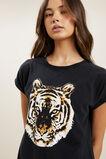 Tiger Print Tee  BLACK  hi-res