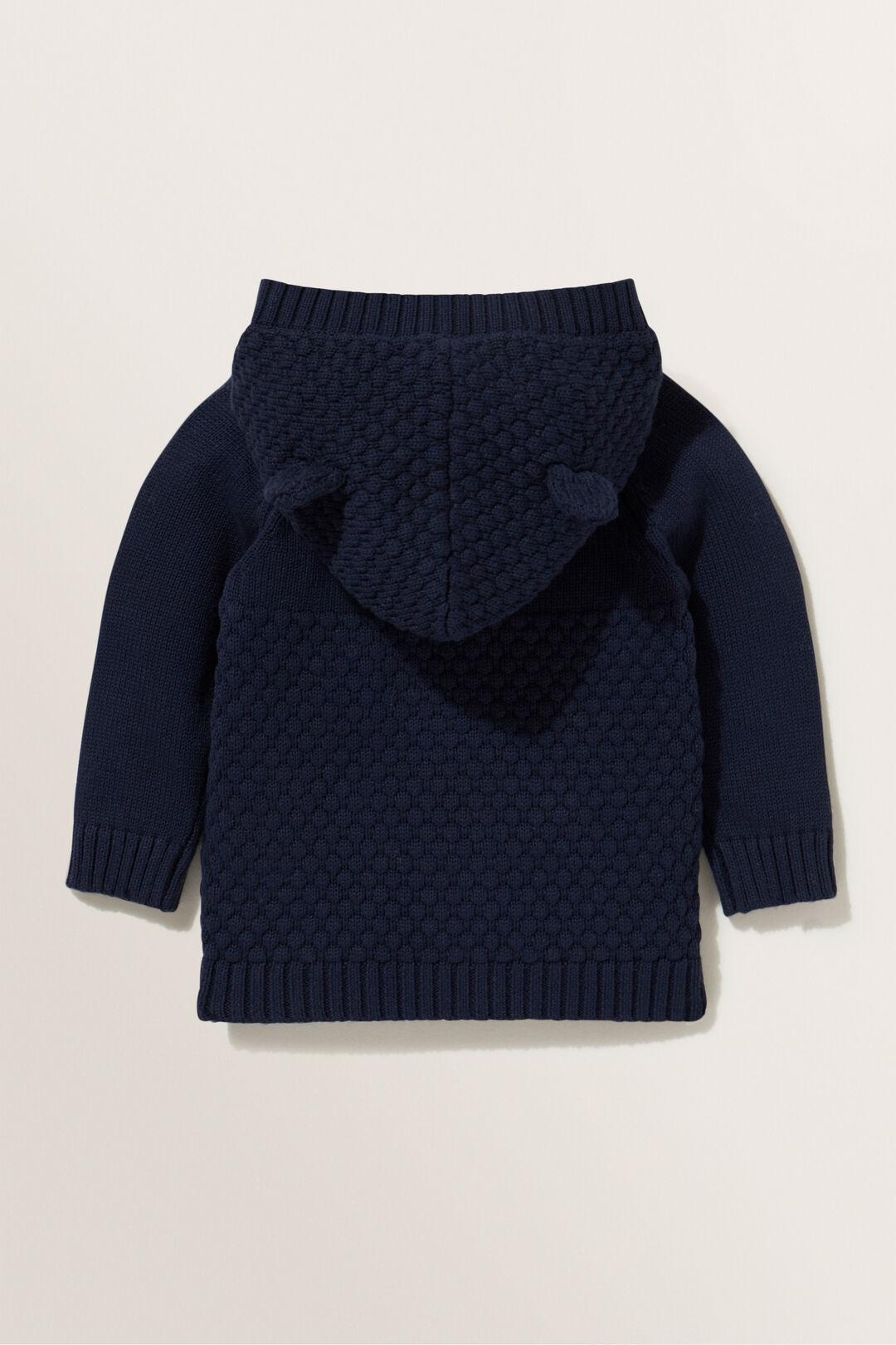 Honeycomb Stitch Cardigan  MIDNIGHT BLUE  hi-res