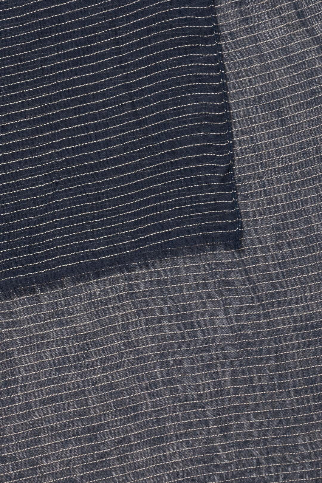 Textured Striped Scarf  NAVY NEUTRAL BLUSH  hi-res