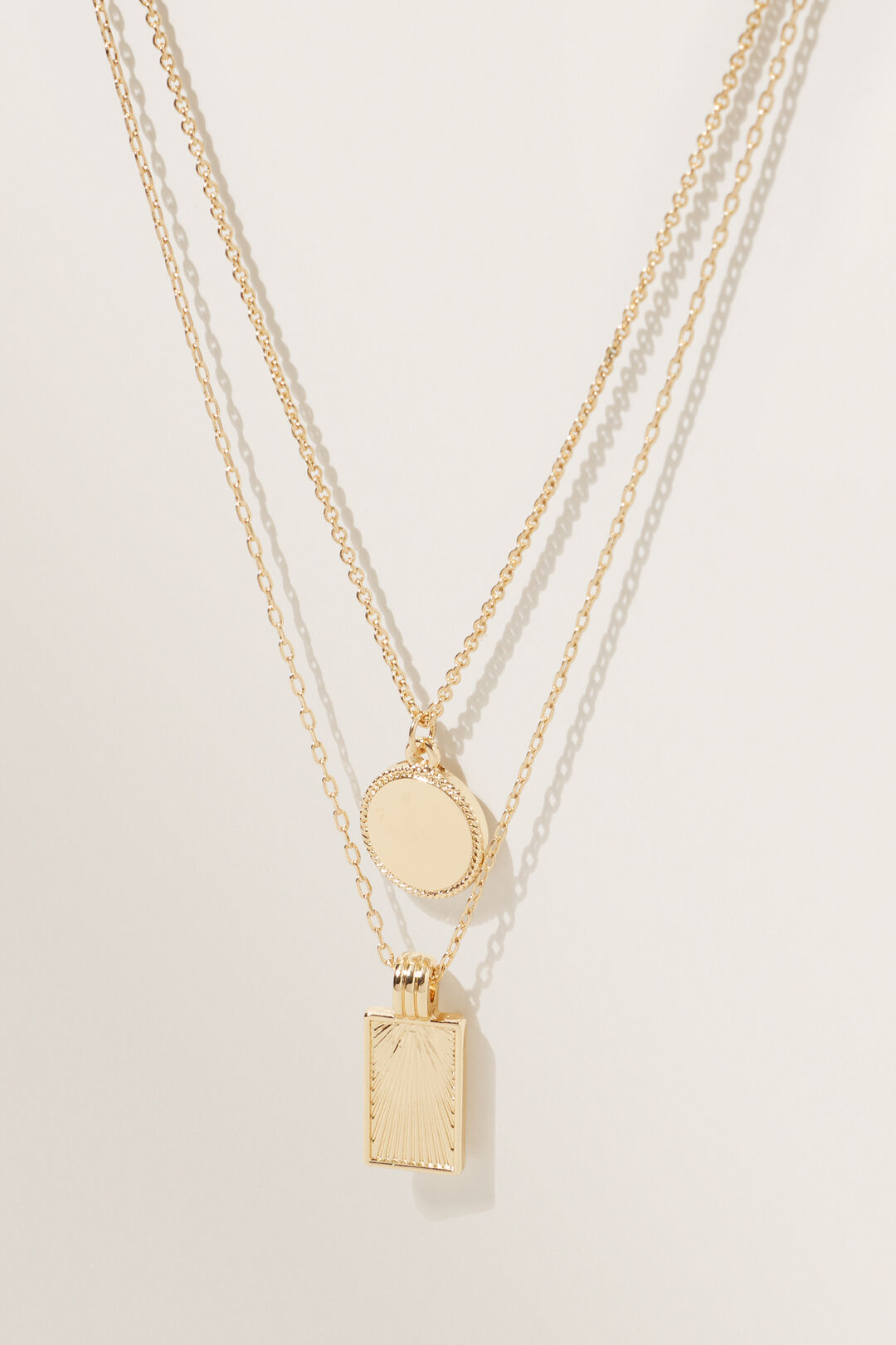 Medallion Necklace  GOLD  hi-res