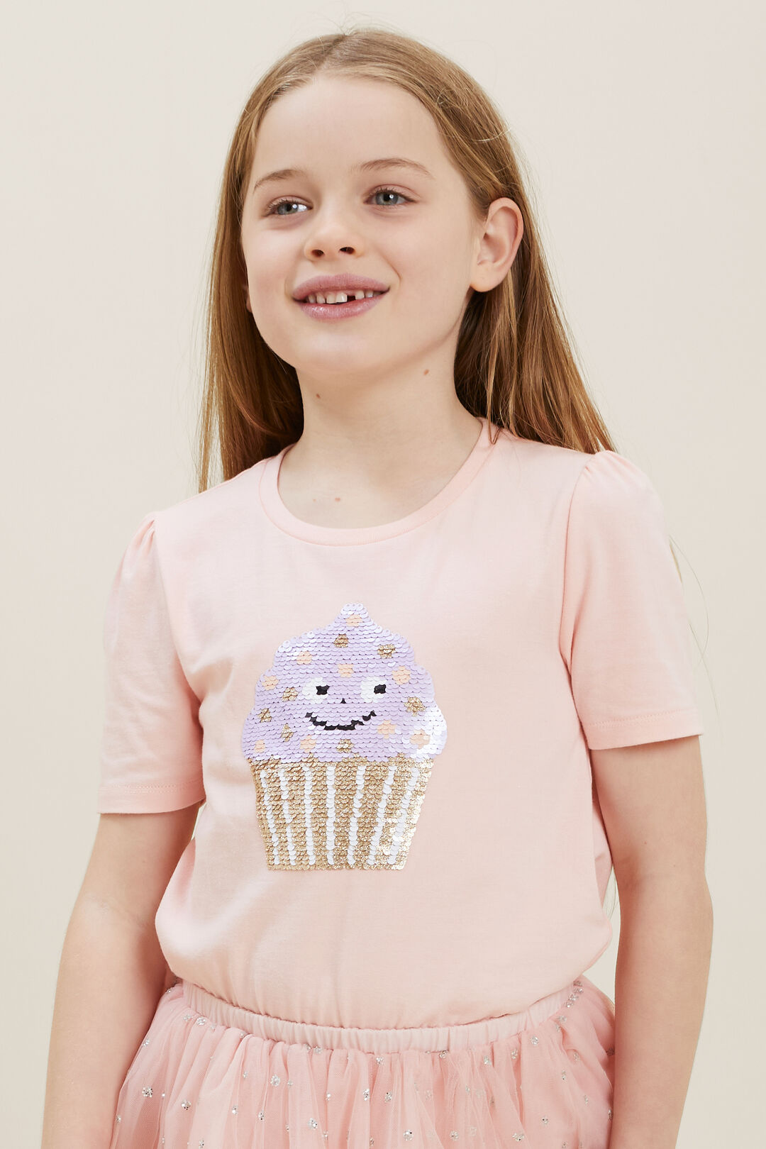 Sequin Cupcake Tee  DUSTY ROSE  hi-res