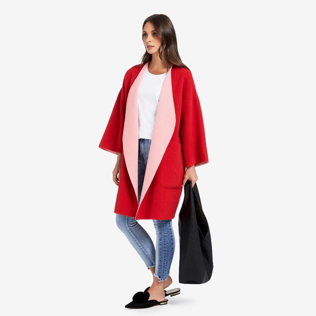 Reversible Coat  BOLD RED/BLOSSOM PNK  hi-res