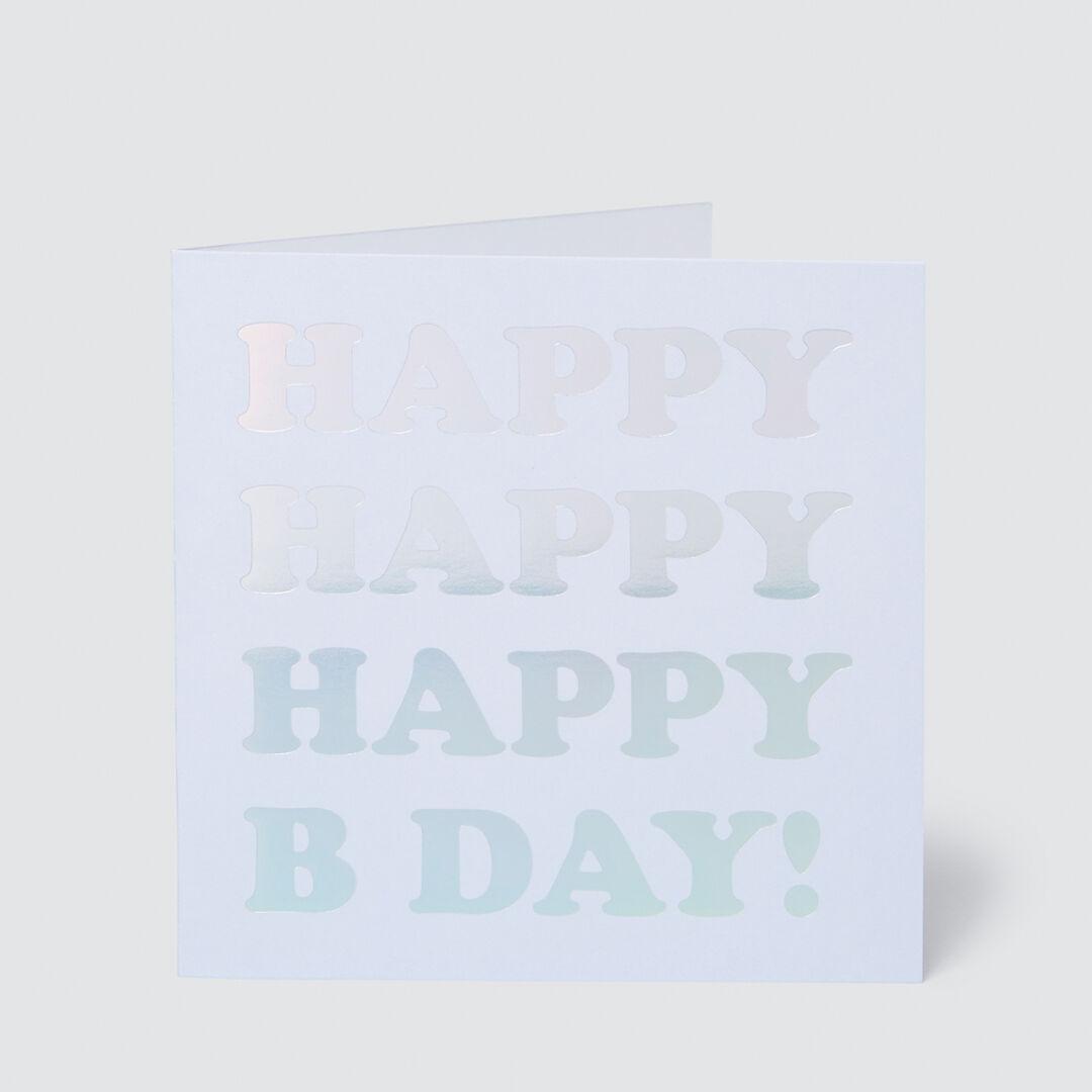 Large Happy Happy Birthday Card  MULTI  hi-res