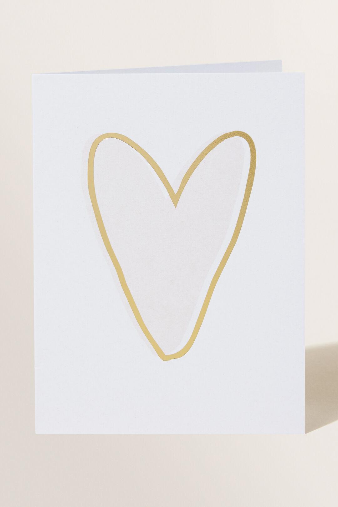 Greeting Card  BLUSH HEART  hi-res