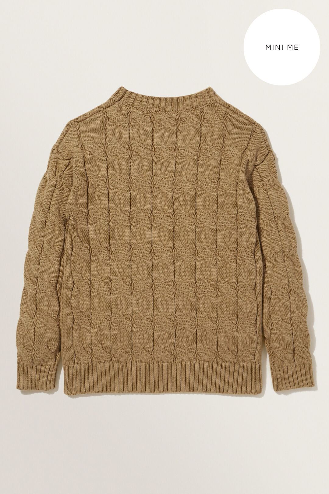 Cable Sweater  HONEY DEW MARLE  hi-res