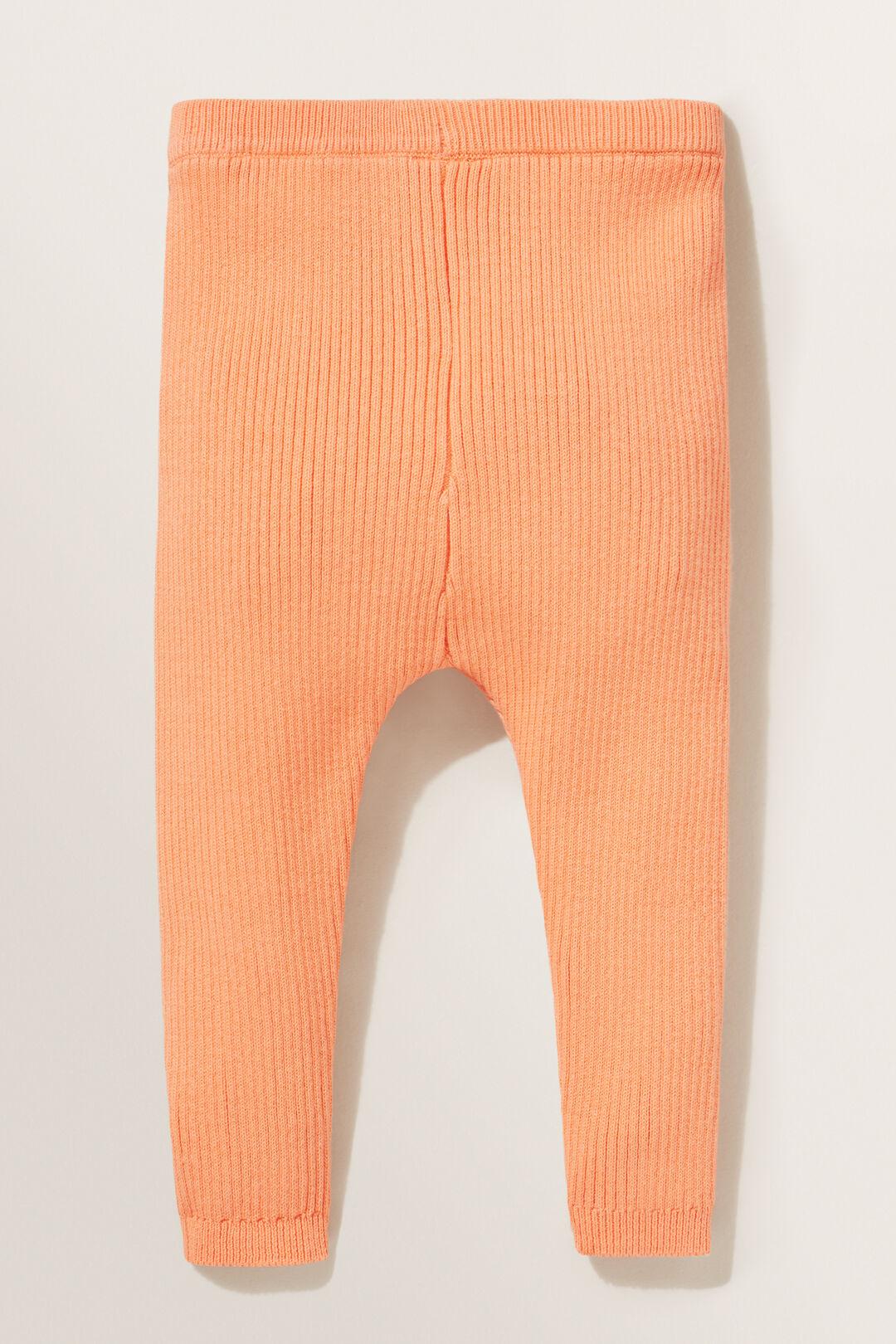 Rib Knit Leggings  APRICOT  hi-res