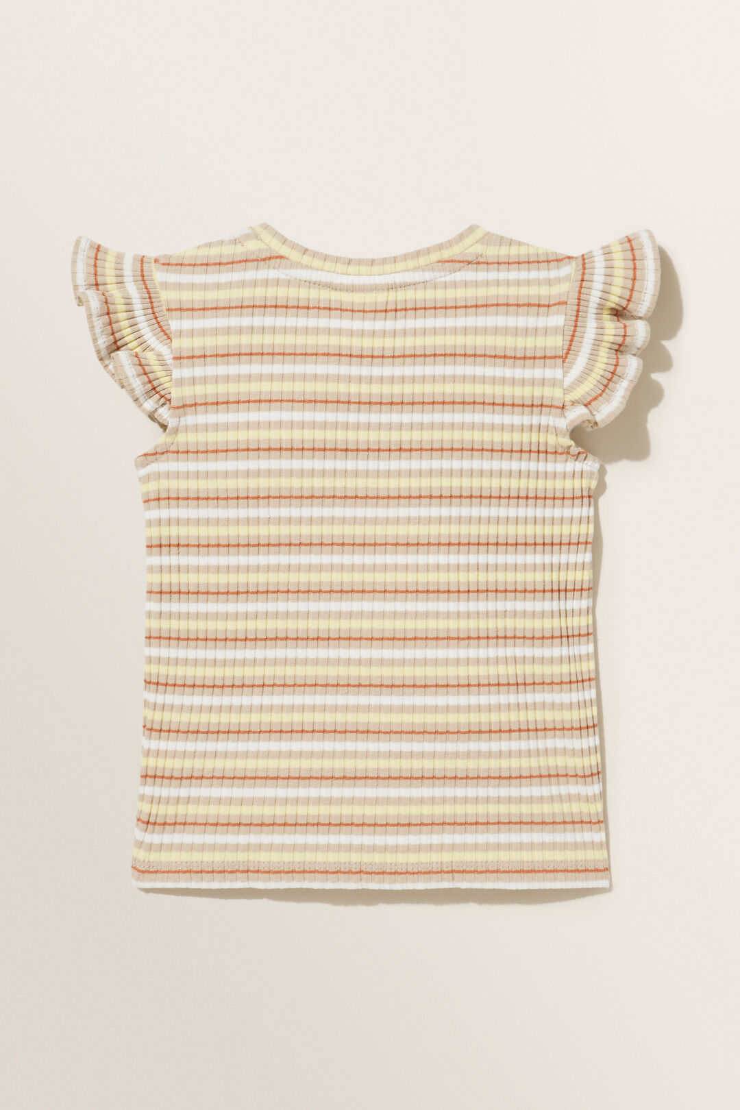 Stripe Rib Short Sleeve Tee  MULTI  hi-res