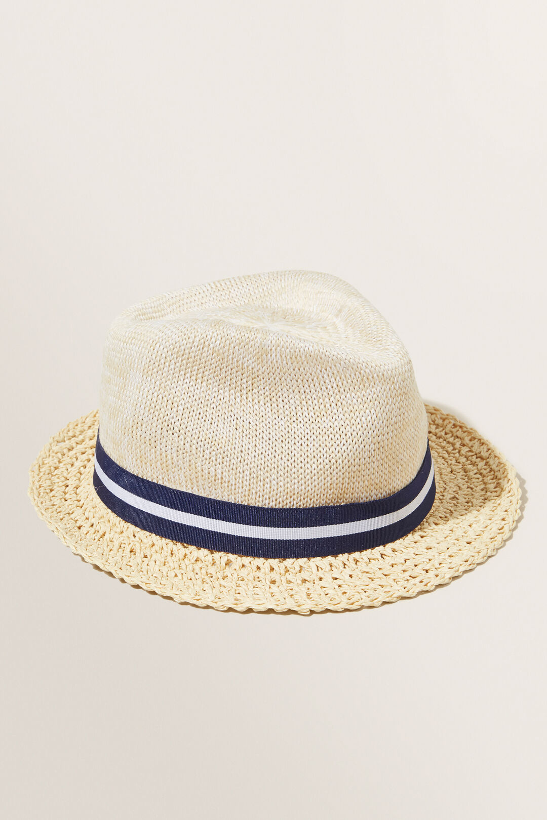 Woven Trilby Hat  NATURAL  hi-res