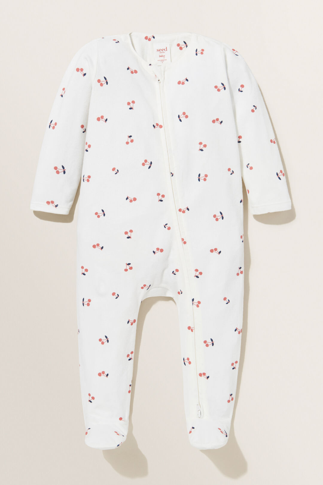 Footed CherryZipsuit  CANVAS  hi-res