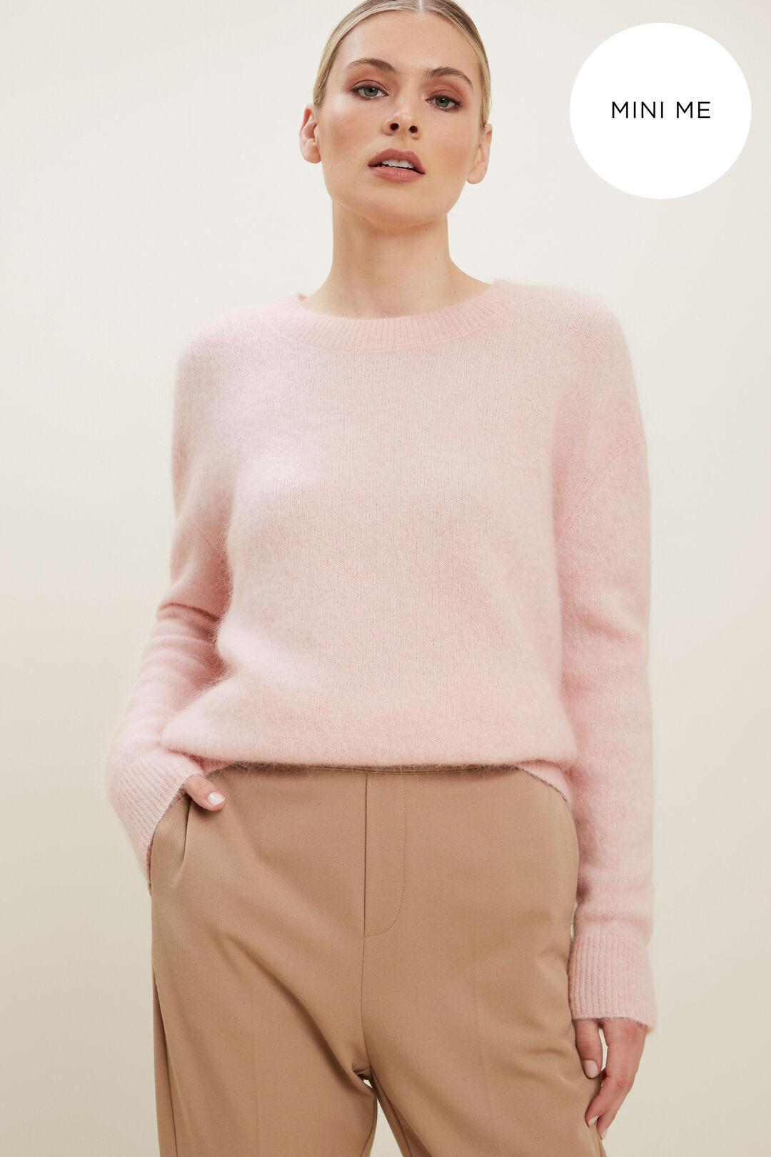 Mohair Crew Neck Sweater  ASH PINK MARLE  hi-res