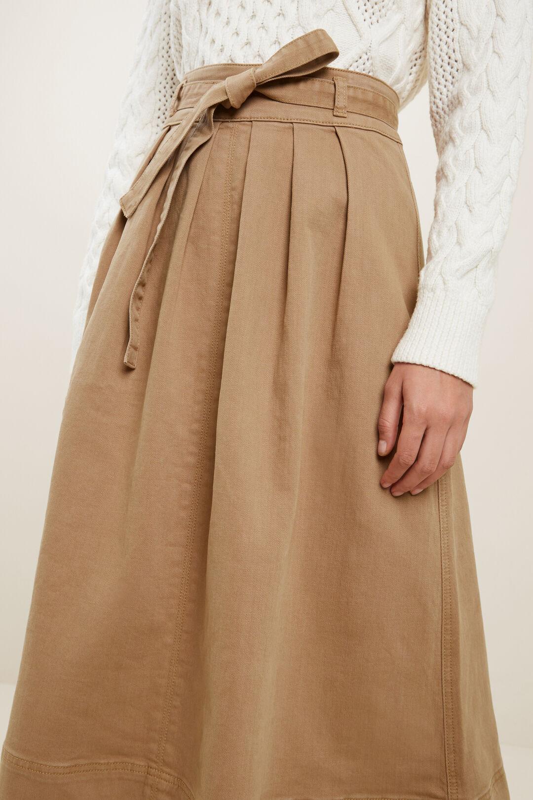 Denim Circle Skirt  HONEY DEW  hi-res