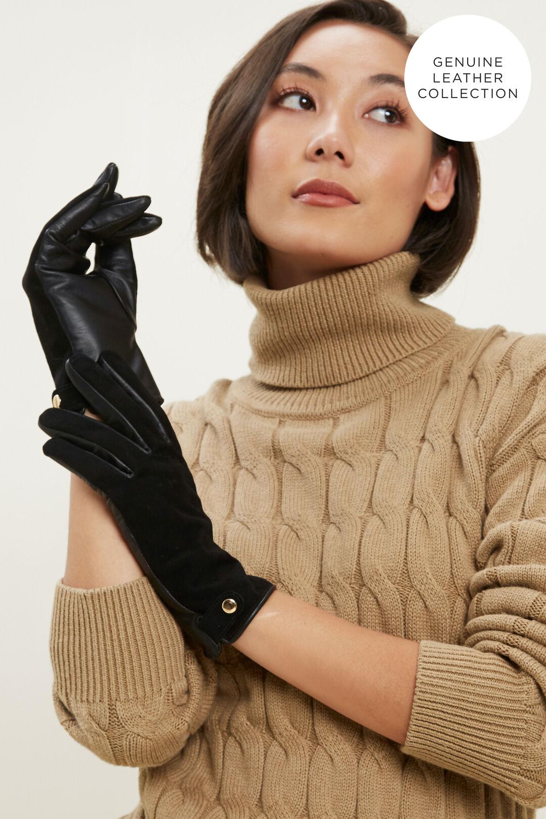 Leather Gloves  BLACK  hi-res