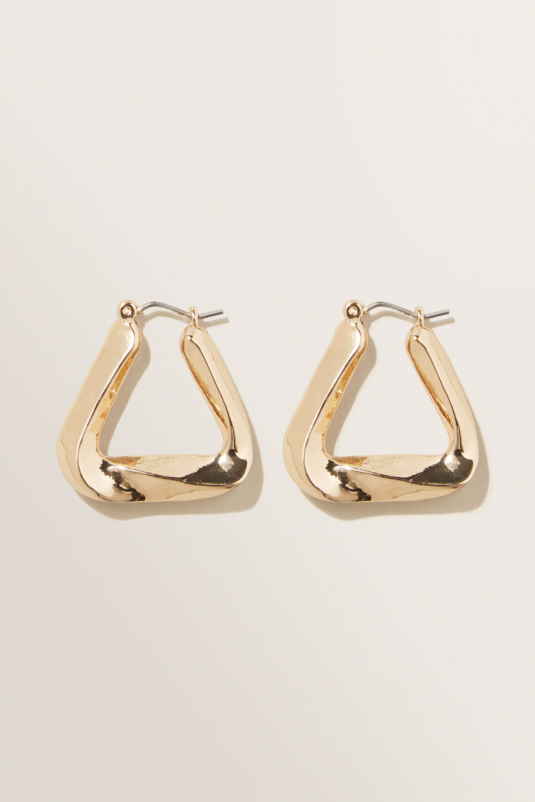 Twisted Triangle Hoop  GOLD  hi-res