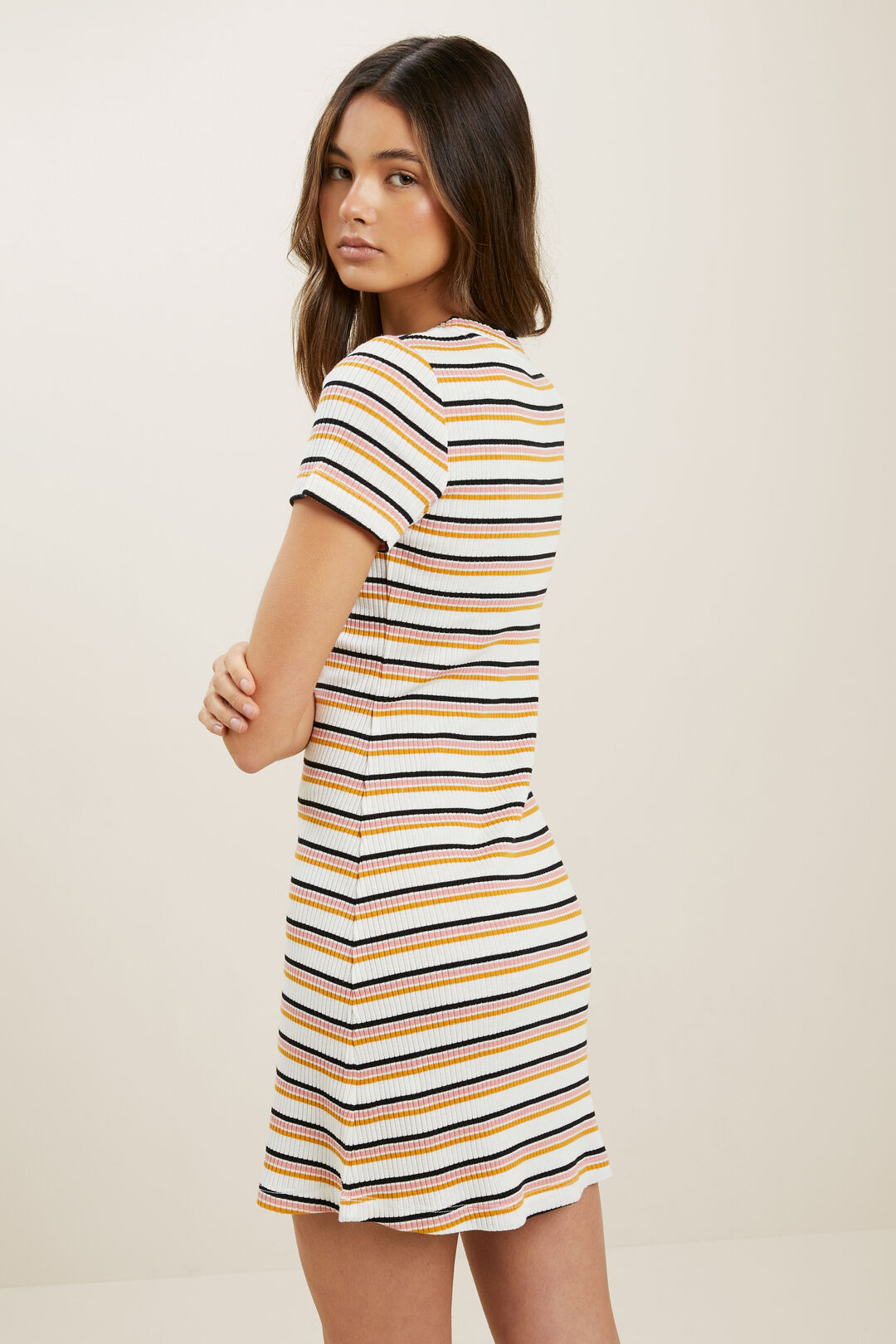 Striped Jersey Dress  MULTI  hi-res