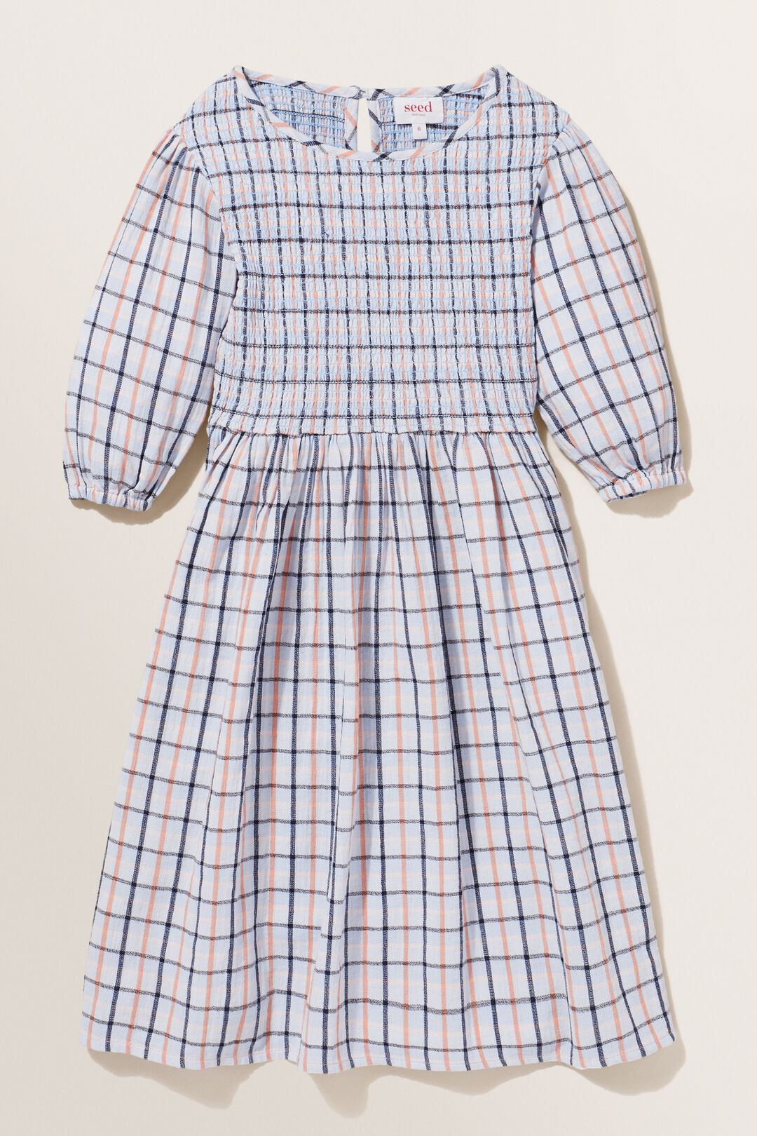 Gingham Dress  BABY BLUE  hi-res