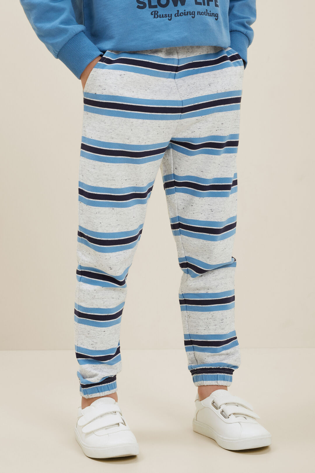 Striped Trackpant  CLOUDY MARLE  hi-res