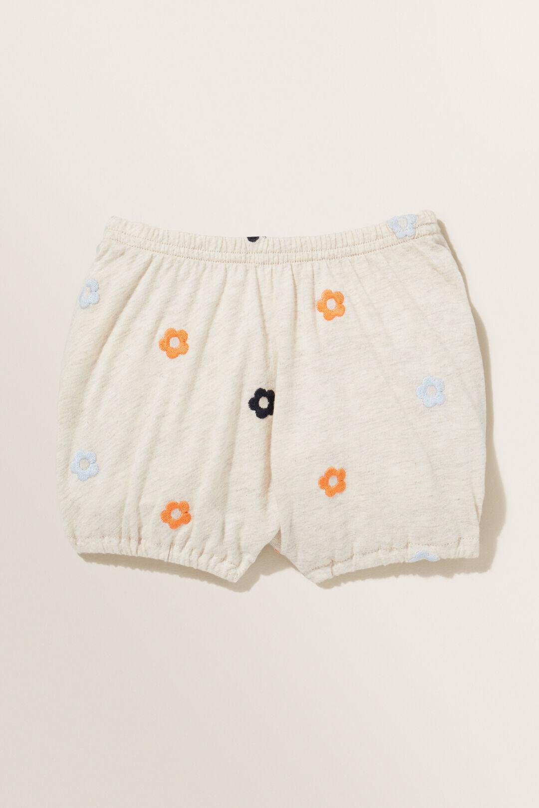 Embroidered Shorts  OAT MARLE  hi-res