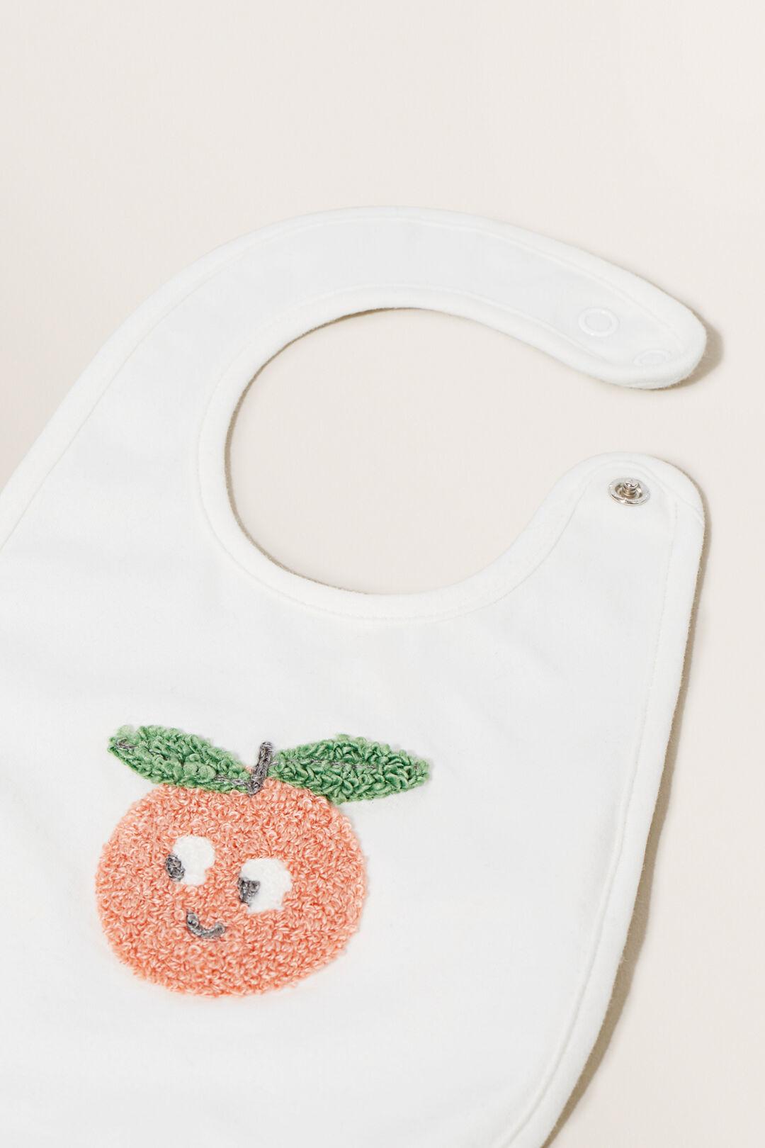 Peach Bib  CANVAS  hi-res