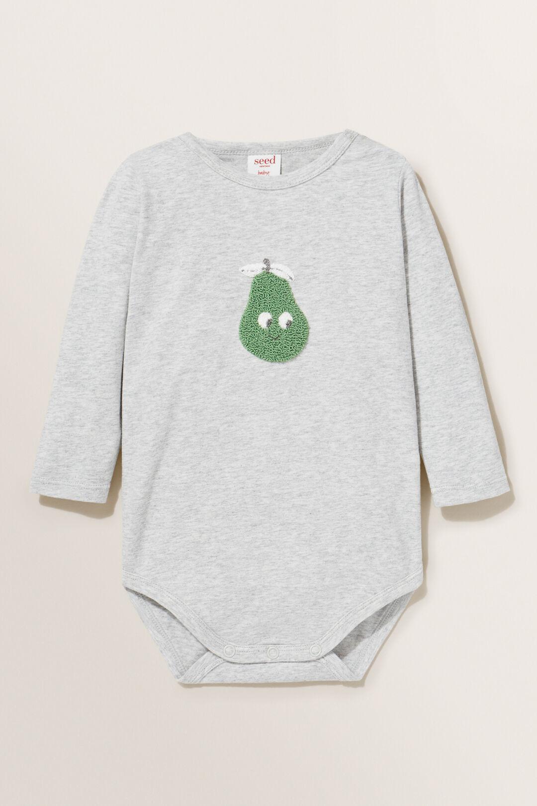 Pear Bodysuit  PALE GREY MARLE  hi-res