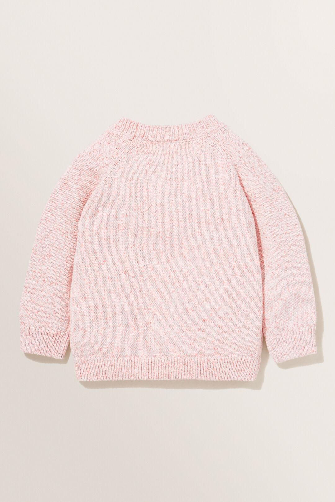 Knitted Raglan Cardigan  CORAL  hi-res