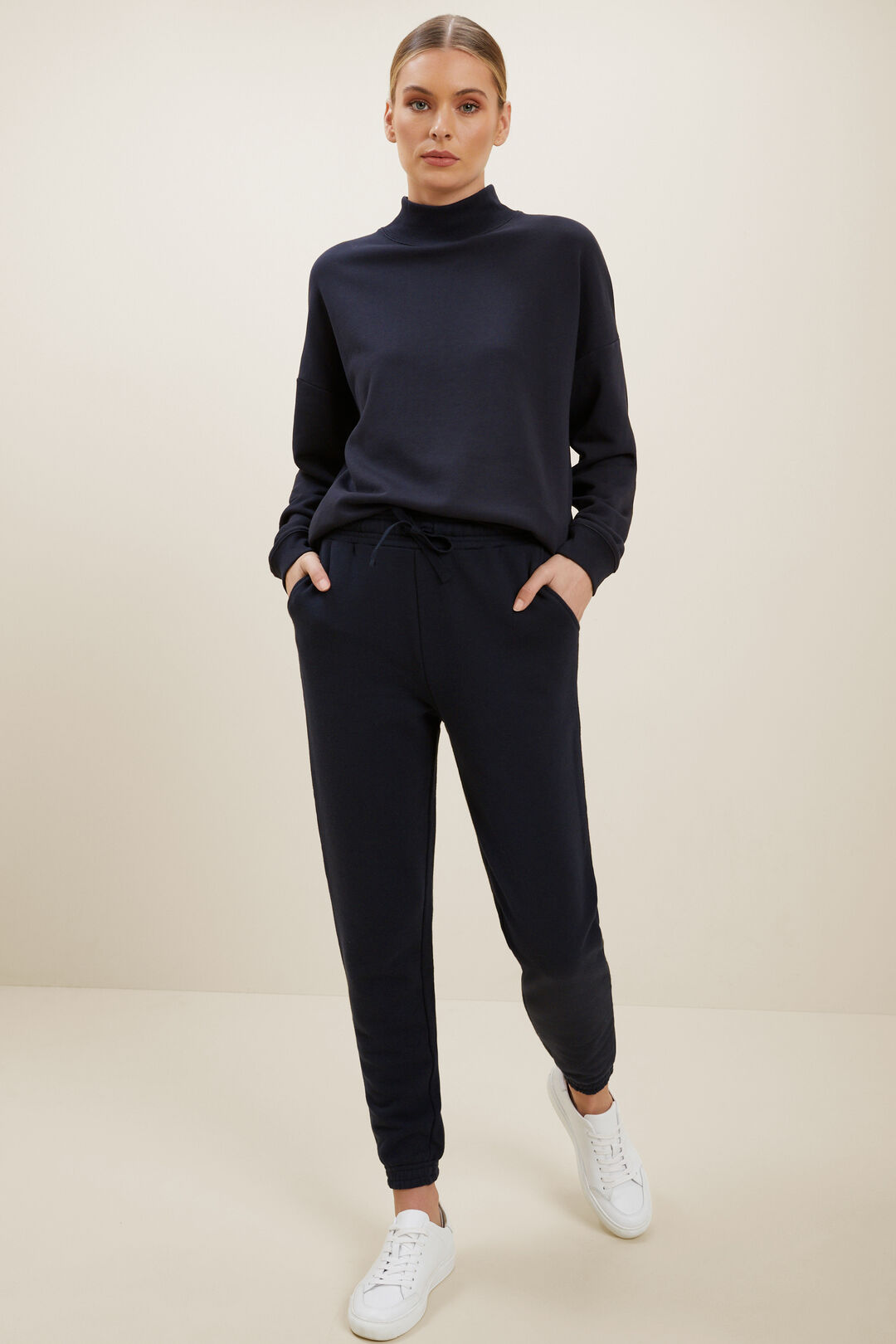 Roll Neck Relaxed Sweater  DEEP NAVY  hi-res