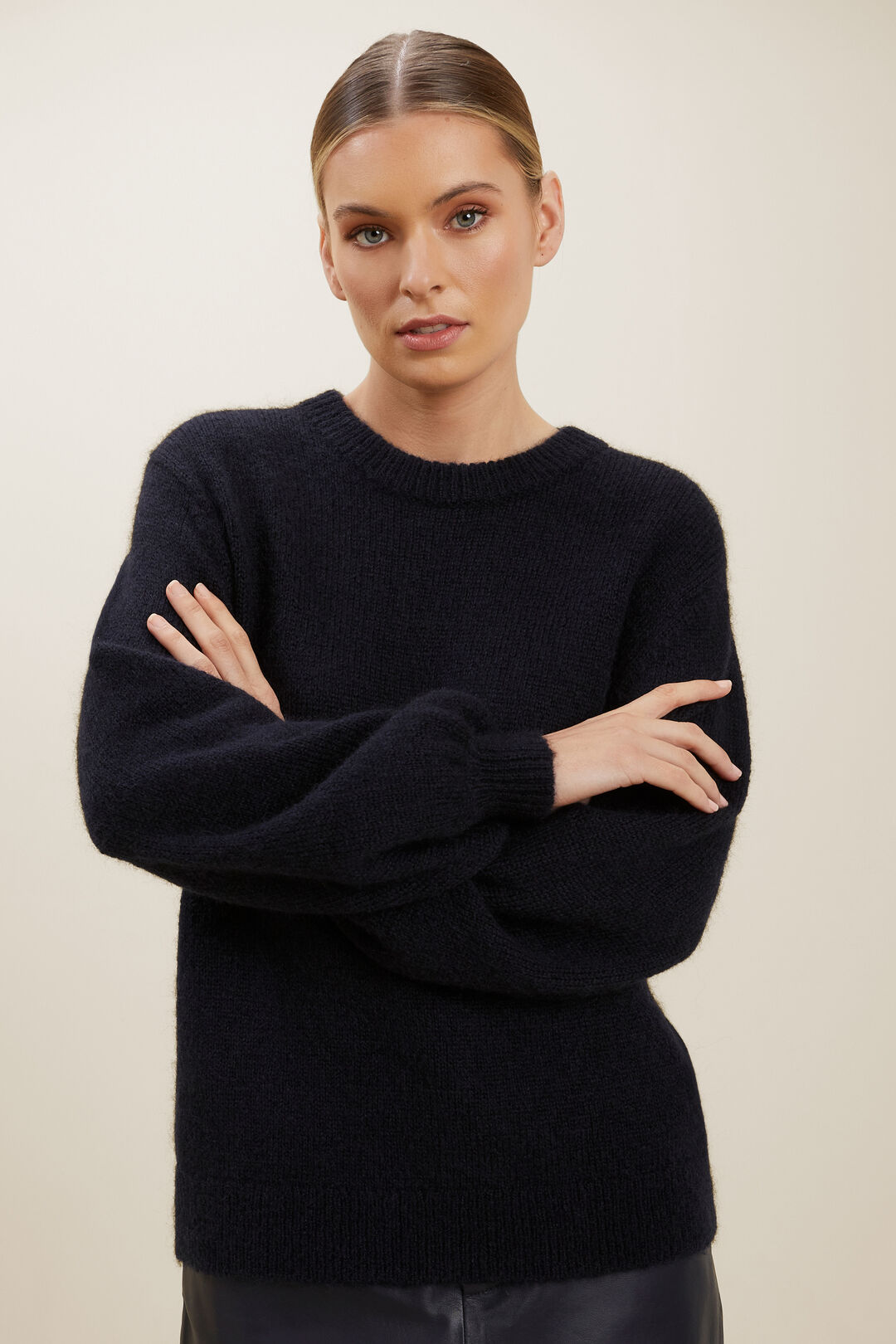 Oversized Knit Sweater  DEEP NAVY  hi-res
