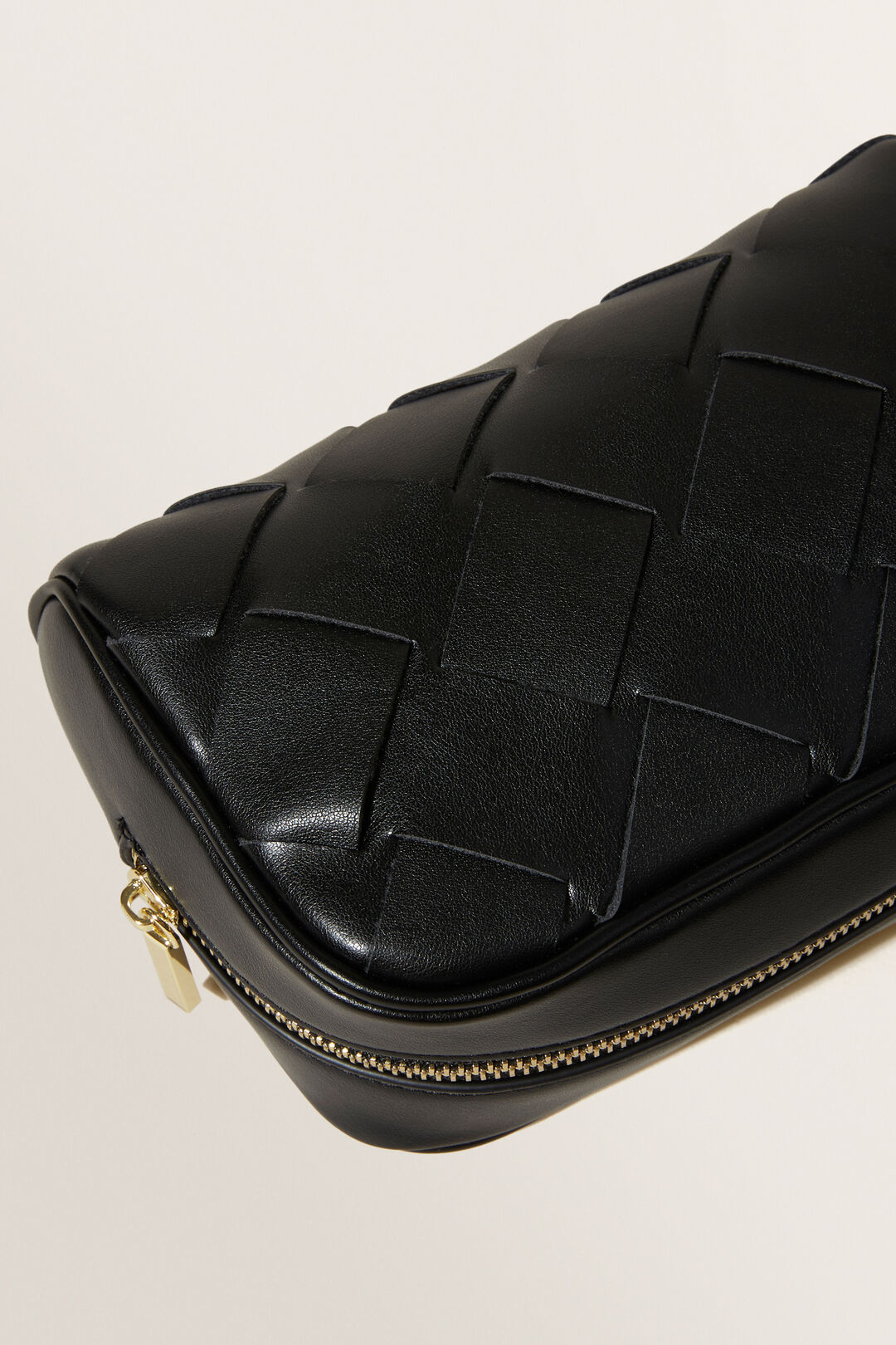 Small Woven Cosmetic Bag  BLACK  hi-res