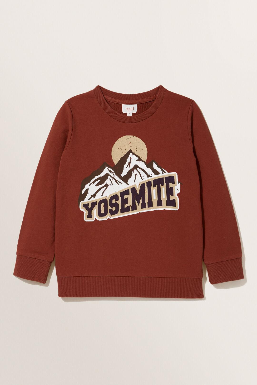 Yosemite Print Sweater  RUST RED  hi-res
