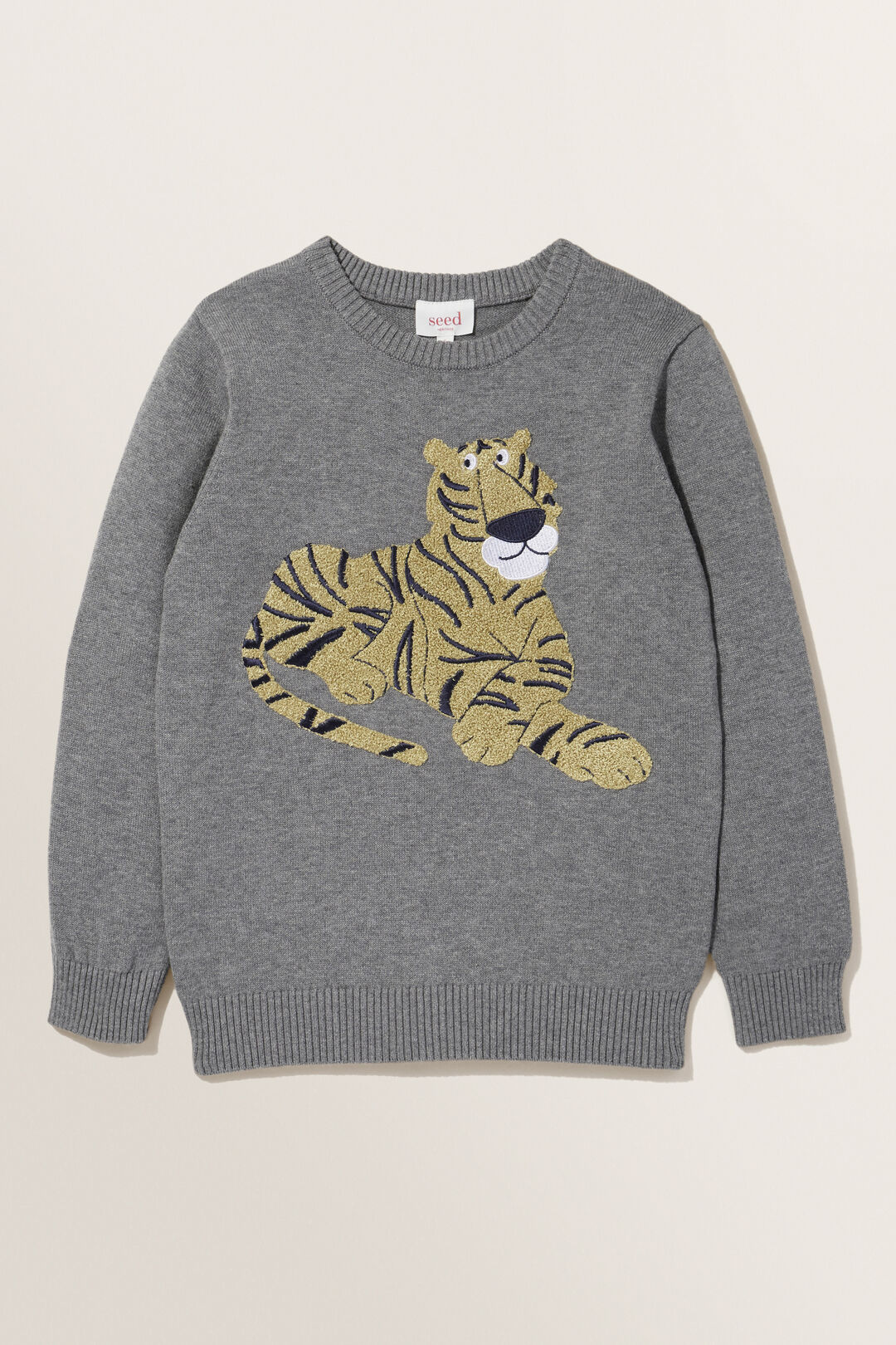 Tiger Crew Knit  CHARCOAL MARLE  hi-res