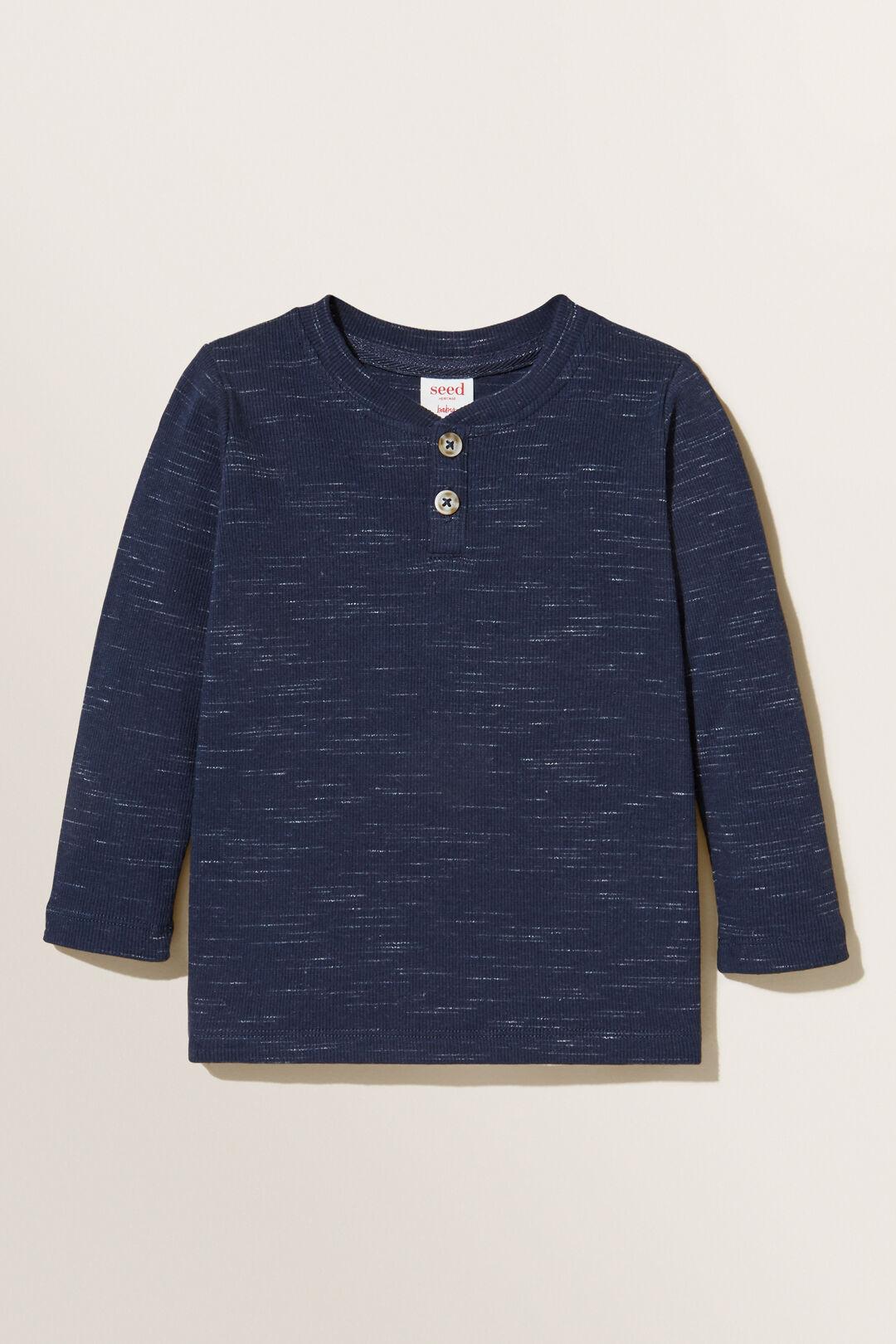 Henley Long Sleeve Tee  MIDNIGHT BLUE  hi-res
