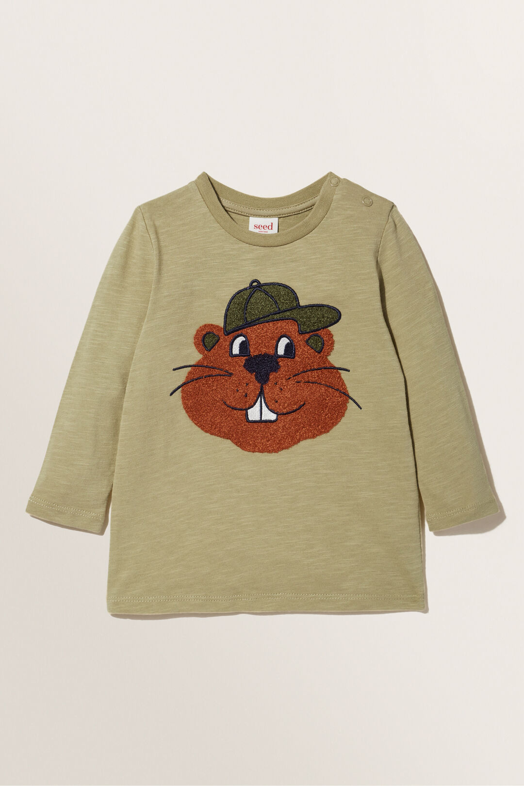 Beaver Long Sleeve Tee  LIGHT OAK  hi-res