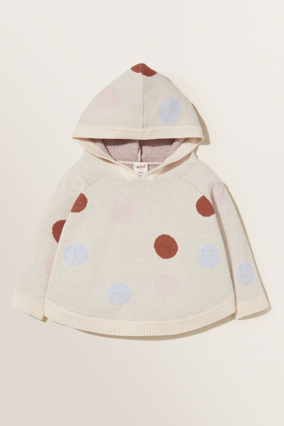 Spotted Poncho  CREME  hi-res